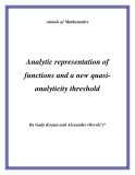 "Đề tài ""  Analytic representation of functions and a new quasianalyticity threshold """