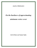 "Đề tài "" On the hardness of approximating minimum vertex cover """