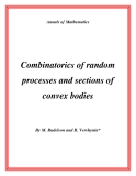 "Đề tài "" Combinatorics of random processes and sections of convex bodies """