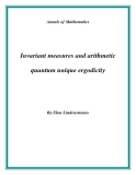 "Đề tài "" Invariant measures and arithmetic quantum unique ergodicity """