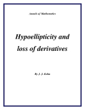 "Đề tài "" Hypoellipticity and loss of derivatives """