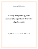 "Đề tài "" Cauchy transforms of point masses: The logarithmic derivative of polynomials """