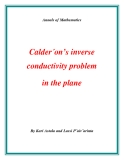 "Đề tài "" Calder´on's inverse conductivity problem in the plane """
