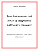 "Đề tài ""Invariant measures and the set of exceptions to Littlewood's conjecture """