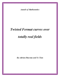 "Đề tài "" Twisted Fermat curves over totally real fields """