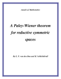"Đề tài "" A Paley-Wiener theorem for reductive symmetric spaces """