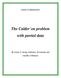 """Đề tài """"  The Calder´on problem with partial data """""""