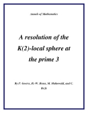 "Đề tài "" A resolution of the K(2)-local sphere at the prime 3 """