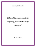 "Đề tài "" Bilipschitz maps, analytic capacity, and the Cauchy integral """