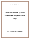 "Đề tài ""  On the distribution of matrix elements for the quantum cat map """