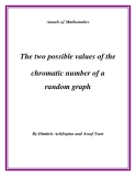 "Đề tài "" The two possible values of the chromatic number of a random graph """