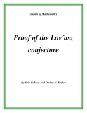 "Đề tài "" Proof of the Lov´asz conjecture """