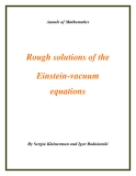 "Đề tài "" Rough solutions of the Einstein-vacuum equations """