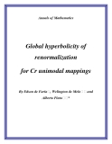 """Đề tài """"  Global hyperbolicity of renormalization for Cr unimodal mappings """""""