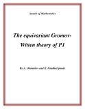 """Đề tài """"  The equivariant GromovWitten theory of P1 """""""