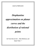 "Đề tài "" Diophantine approximation on planar curves and the distribution of rational points """
