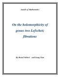 "Đề tài ""  On the holomorphicity of genus two Lefschetz fibrations """