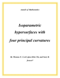 "Đề tài ""  Isoparametric hypersurfaces with four principal curvatures """