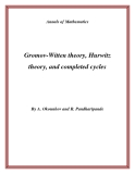 "Đề tài "" Gromov-Witten theory, Hurwitz theory, and completed cycles """