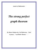 "Đề tài ""The strong perfect graph theorem """