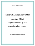 "Đề tài ""  Asymptotic faithfulness of the quantum SU(n) representations of the mapping class groups """
