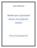 "Đề tài "" Moduli space of principal sheaves over projective varieties """