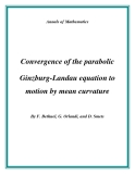 "Đề tài "" Convergence of the parabolic Ginzburg-Landau equation to motion by mean curvature """