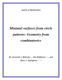 "Đề tài "" Minimal surfaces from circle patterns: Geometry from combinatorics """
