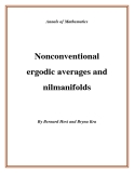 "Đề tài "" Nonconventional ergodic averages and nilmanifolds """