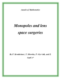 "Đề tài "" Monopoles and lens space surgeries """