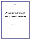 "Đề tài ""Bounds for polynomials with a unit discrete norm """