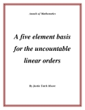 "Đề tài ""  A five element basis for the uncountable linear orders """