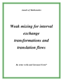 "Đề tài ""  Weak mixing for interval exchange transformations and translation flows """