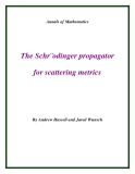 "Đề tài ""The Schr¨odinger propagator for scattering metrics """