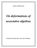 "Đề tài "" On deformations of associative algebras """