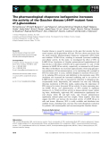 Báo cáo khoa học: The pharmacological chaperone isofagomine increases the activity of the Gaucher disease L444P mutant form of b-glucosidase