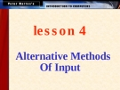 Alternative Methods Of Input