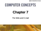 Chapter 7: The Web and E-mail