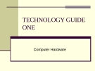 TECHNOLOGY GUIDE OUTLINE