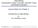 Data Mining Classification: Basic Concepts, Decision Trees, and Model Evaluation Lecture Notes for Chapter 4 Introduction to Data Mining