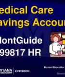 Montana Medical Care  Savings Accounts (MSAs)