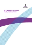 STATEMENT OF INTENT: FAMILY MIGRATION