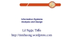 Information Systems Analysis, Design