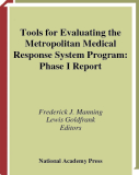 Tools for Evaluating the Metropolitan Medical Response System Program: Phase I Report