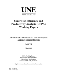Centre for efficiency and productivity analysis working papers