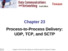 Chapter 23 Process-to-Process Delivery: UDP, TCP, and SCTP