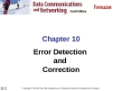 Chương 10: Error Detection and Correction