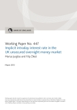 Implicit intraday interest rate in the  UK unsecured overnight money market