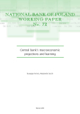 NATIONAL BANK OF POLAND WORKING PAPER No . 72: Central bank's macroeconomic projections and learning