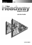New headway english course beginner tests
